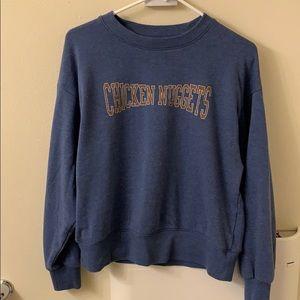 American eagle chicken nuggets blue sweatshirt S
